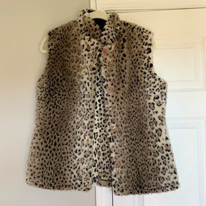Coldwater Creek Leopard Print Vest Size Small